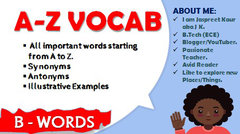 Hindi) A-Z Vocab Series: B - Words: Complete course on