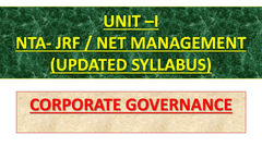 Hindi) Corporate Governance : NTA-UGC NET - Unacademy