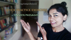 Class XII - Reading Comprehension 'Unseen Passage' Quick Practice Exercises