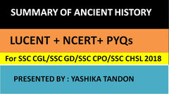 (Hindi) Gist of Ancient History from Lucent general awareness for SSC CGl