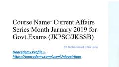 30 April 2019 Current Affairs for JKPSC/JKSSB/JKBOSE EXAMS