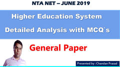 Hindi) Detailed Analysis: Higher Education System with MCQ's - NTA